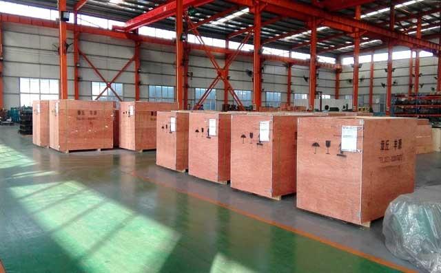 中国国电集团合作项目高压罗茨鼓风机装箱中