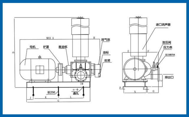 FSR三叶罗茨风机结构图